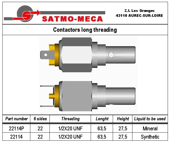 Contactors long threading
