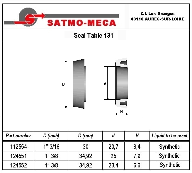 Seal Table 131