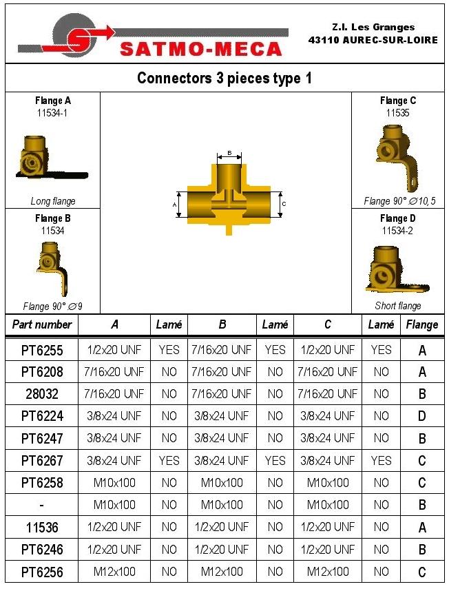 Connectors 3 pieces type 1