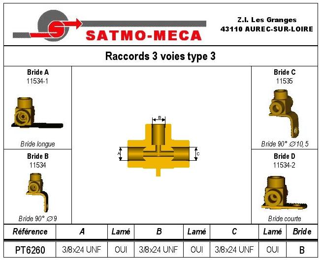 Raccords 3 voies type 3