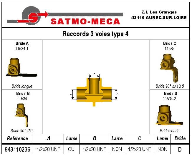 Raccords 3 voies type 4