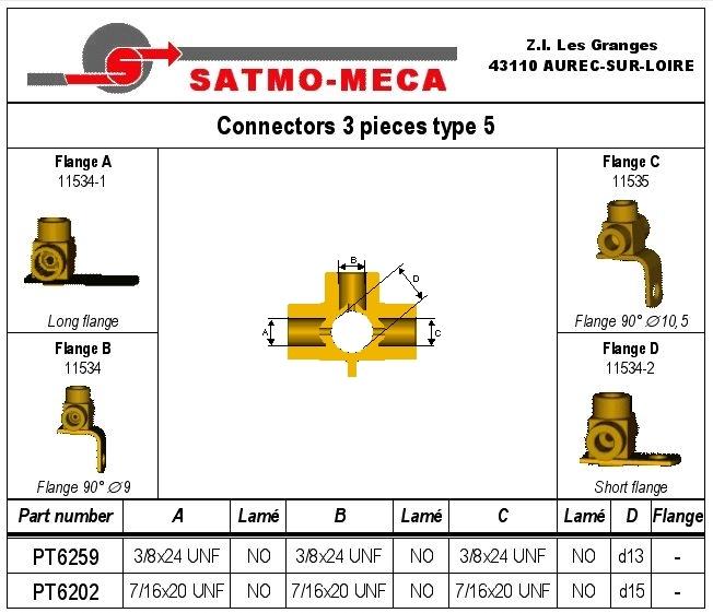 Connectors 3 pieces type 5