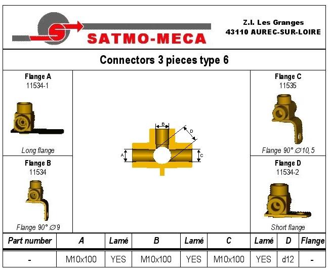Connectors 3 pieces type 6