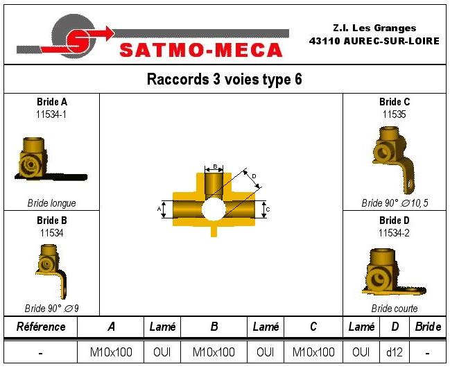 Raccords 3 voies type 6